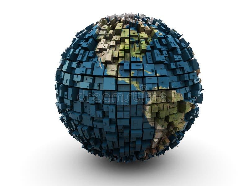 Abstrakte Erdekugel stock abbildung