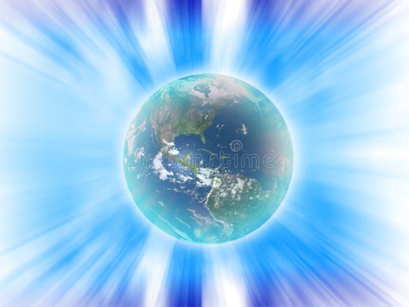 Abstrakte Erdeleistung lizenzfreie abbildung