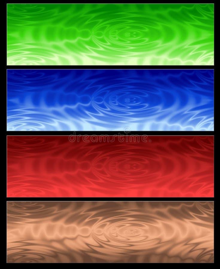 Abstrakte Fahne des Webs vier vektor abbildung