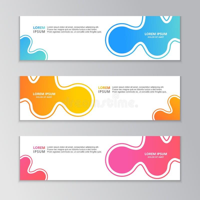 Abstrakte Fahnen-Schablone, moderner Entwurfs-Hintergrund, dynamische flüssige Steigung vektor abbildung