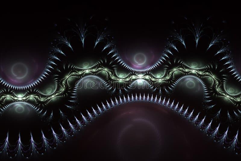 Abstrakte Fantasy-farbenfrohe Swirl-Ornament Bruchlose und schwache Formen Texturen für Poster oder Kleidung vektor abbildung
