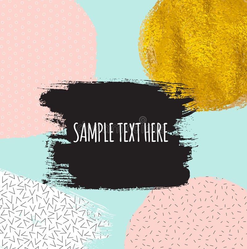 Abstrakte Farbe funkelnder strukturierter Art Pattern Background stock abbildung