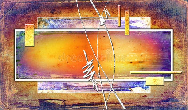 Abstrakte Farbeinzigartige geometrische Grafik lustig stock abbildung