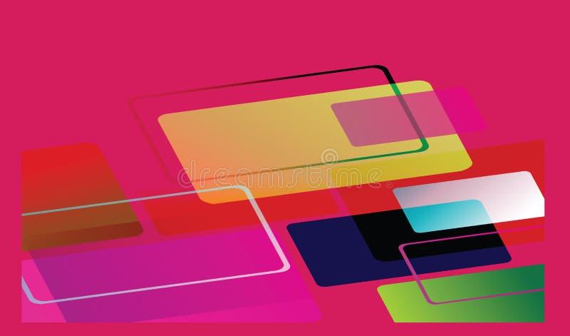 Abstrakte Farben Abbildung stock abbildung