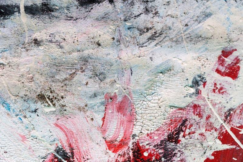 Abstrakte Farbenbeschaffenheit auf Segeltuch für Design stockbild