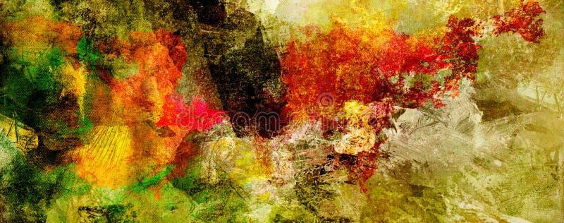 Abstrakte Farbenbeschaffenheits-Hintergrundfahne stock abbildung