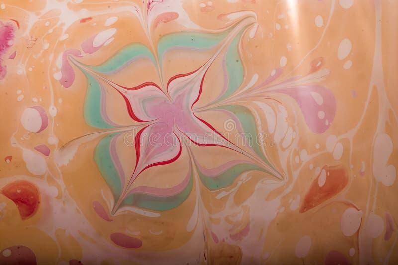 Abstrakte Farbenmuster auf buntem Hintergrund stockbild