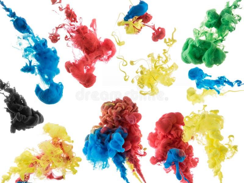 Abstrakte Farbfarbe im Wasser lizenzfreie stockfotografie