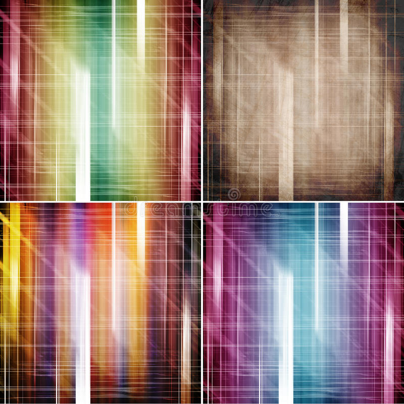 Abstrakte Farbhintergründe stock abbildung