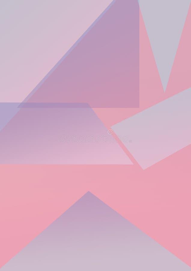 Abstrakte farbiges Papier minimalis Hintergrund-Formpastelllinie Pastellfarbe lizenzfreie abbildung