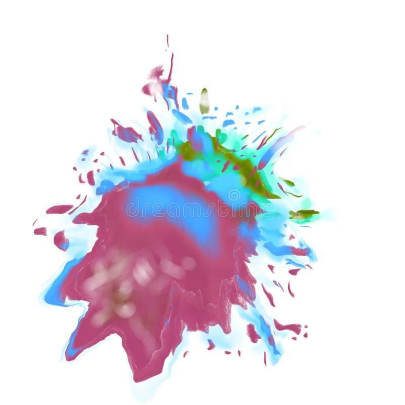 Abstrakte Farbstellen der Fl?ssigkeit, spritzt von der Farbe stock abbildung