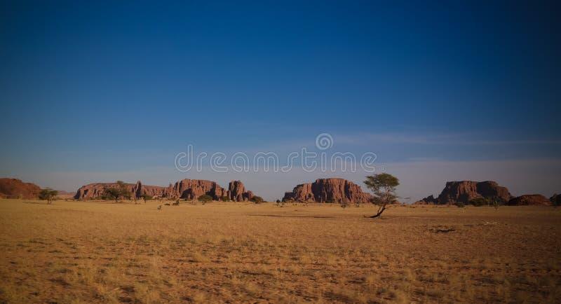 Abstrakte Felsformation an der Hochebene Ennedi in Terkei-Tal in Tschad stockfoto