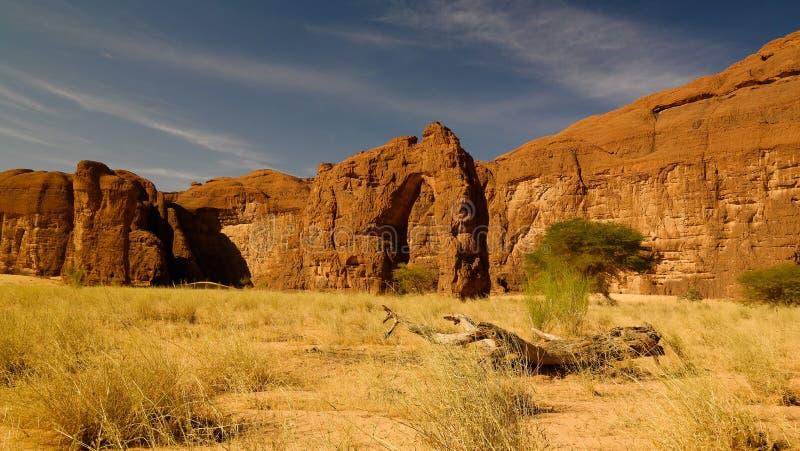 Abstrakte Felsformation an der Hochebene Ennedi in Terkei-Tal in Tschad lizenzfreie stockfotos