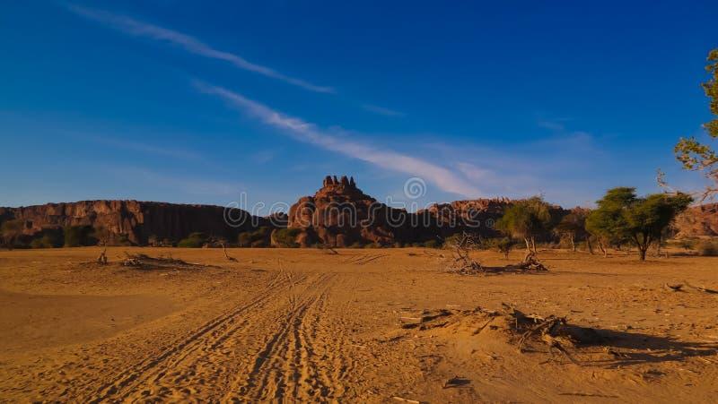 Abstrakte Felsformation an der Hochebene Ennedi in Terkei-Tal in Tschad lizenzfreie stockfotografie