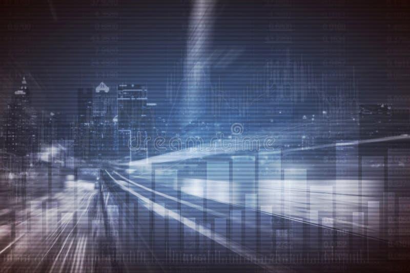 Download Abstrakte Finanzaktienkurve Und Stadtbild In Der Doppelbelichtung Reden Hintergrund An Stockfoto - Bild von buchhaltung, stab: 106804040