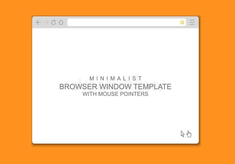 Abstrakte flache Designweb- browserfensterschablone lizenzfreie abbildung