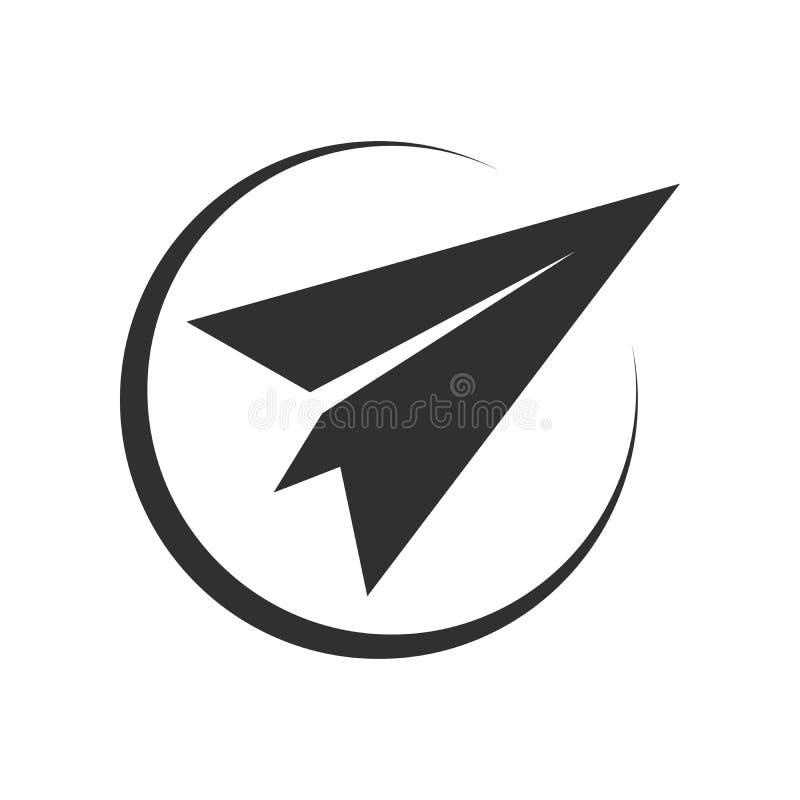 Abstrakte flache Papierpost-Nordostrichtungs-Kreis-Symbol-Design vektor abbildung