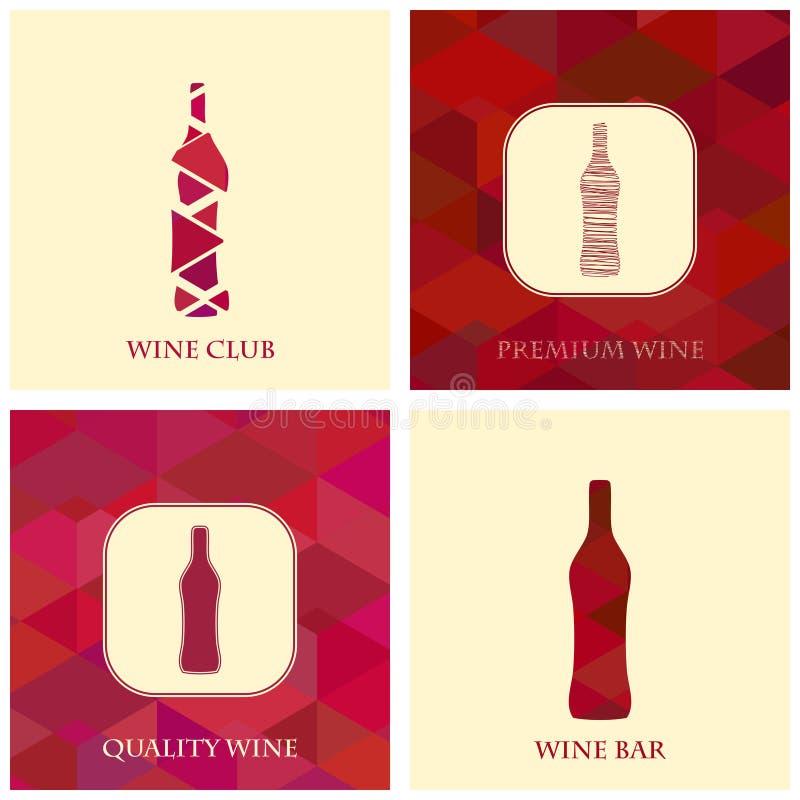 Abstrakte Flasche Wein stock abbildung