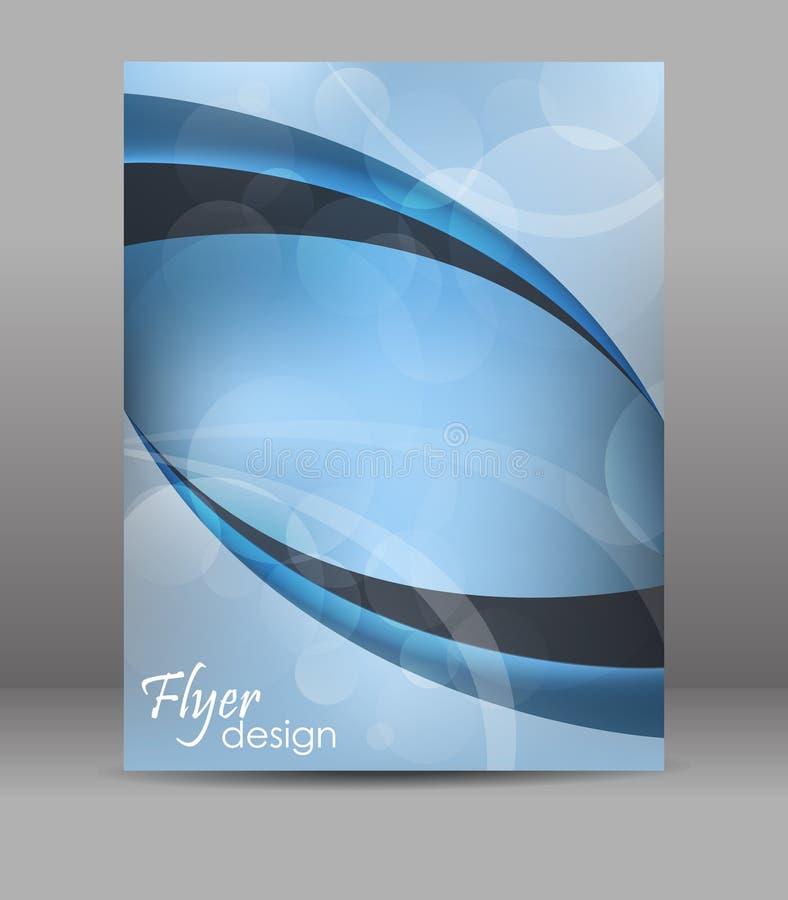 Abstrakte Flieger- oder Broschürenschablone, Design vektor abbildung