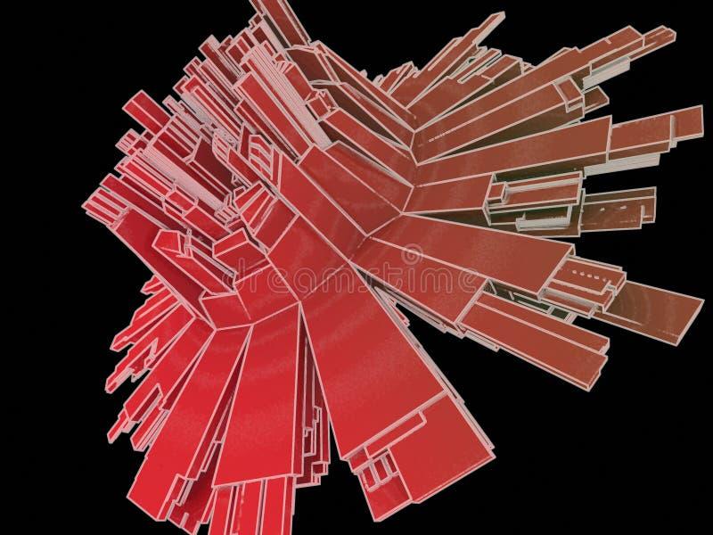 Abstrakte Form 3d lizenzfreie abbildung