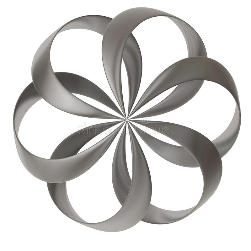 abstrakte Form der Blume 3d stock abbildung