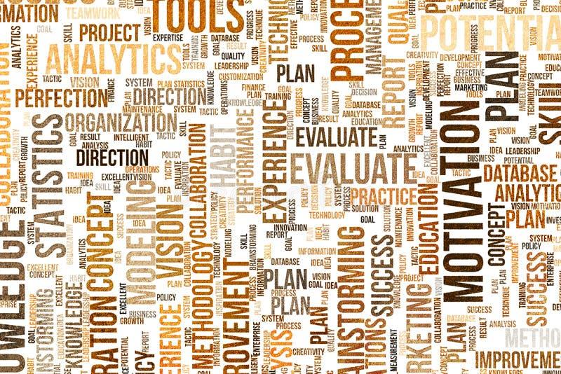 Abstrakte Form, für Webseite, Tapete oder Grafikdesign Muster, Sachkenntnis, Wortwolke, Taktik u. Innovation vektor abbildung