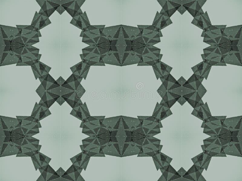 Abstrakte Form gemacht von den kleinen Kreisen lizenzfreie stockfotos