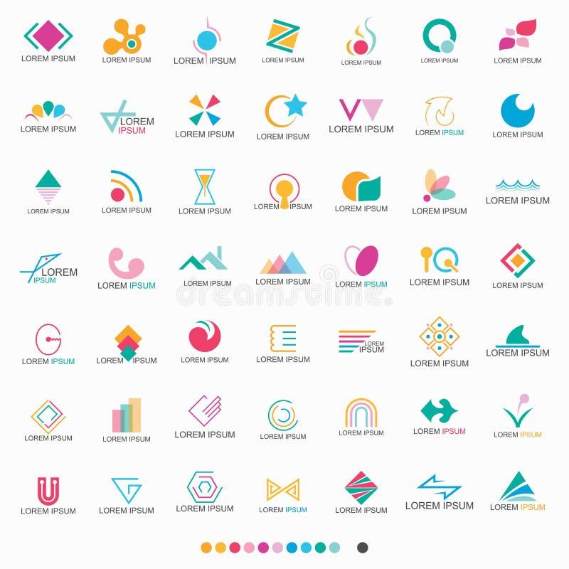 Download Abstrakte Form Logo Set - Vektor Vektor Abbildung - Illustration von fische, konzept: 90236692