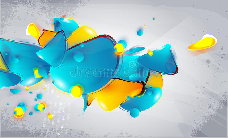 Abstrakte Formularluftblasen stock abbildung
