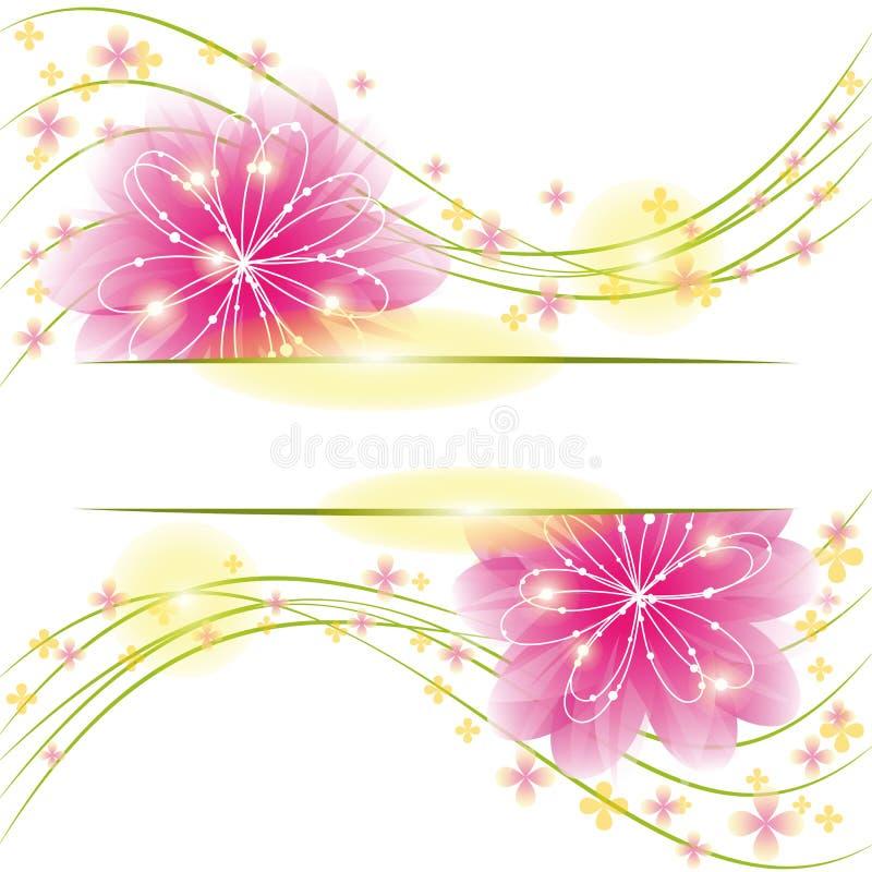 Abstrakte Frühjahrblumen-Grußkarte lizenzfreie abbildung