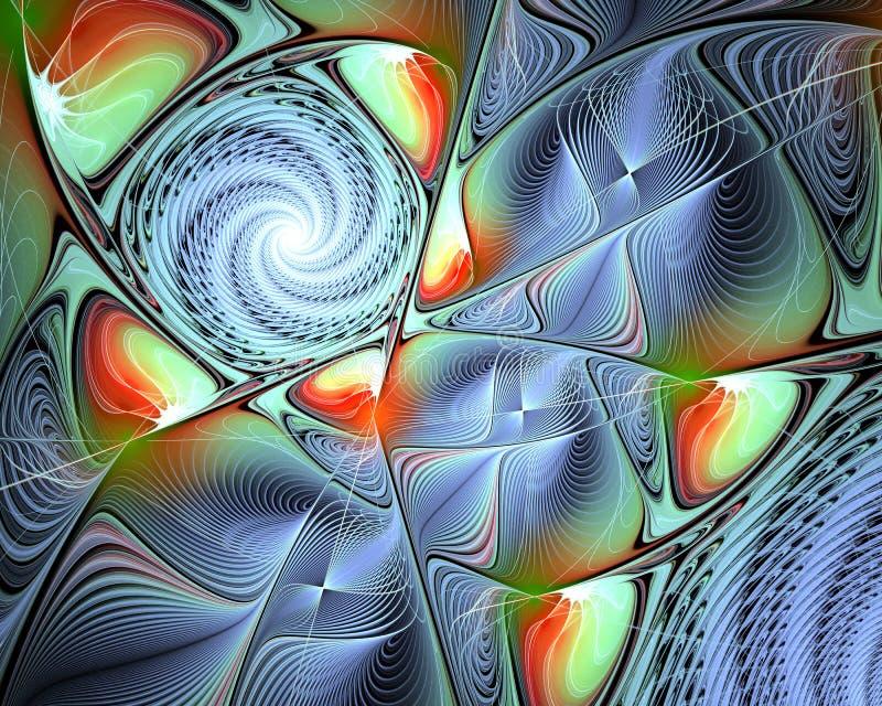 Abstrakte Fractal-Auslegung vektor abbildung