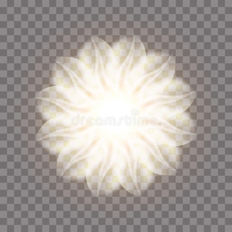 Abstrakte Fractal-Blume lizenzfreie abbildung