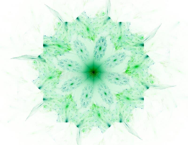 Abstrakte Fractalmuster und -formen Digital-Grafik f?r kreatives Grafikdesign Symmetrische Fractalikone auf schwarzem Hintergrund vektor abbildung