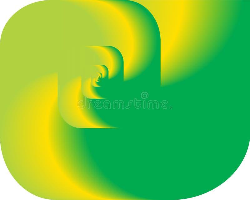 Abstrakte Fractalrotation als Zeichen, Hintergrund vektor abbildung