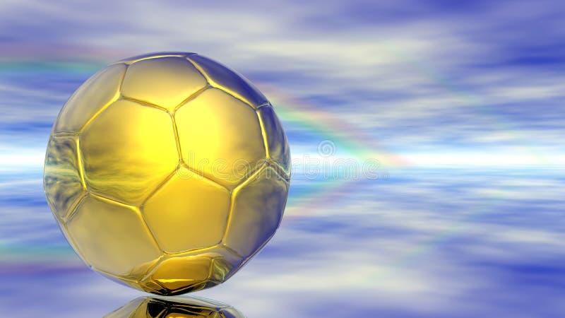 Abstrakte Fußballkugel lizenzfreie abbildung