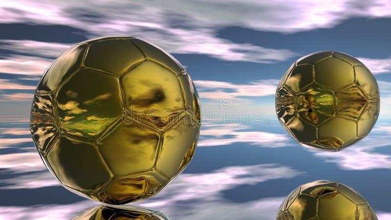 Abstrakte Fußballkugeln lizenzfreie abbildung