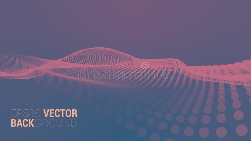 Abstrakte futuristische digitale Landschaft des Vektors lizenzfreie stockfotos