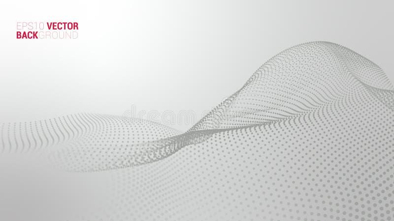 Abstrakte futuristische digitale Landschaft des Vektors lizenzfreie stockbilder