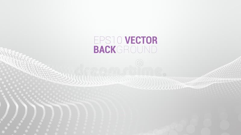 Abstrakte futuristische digitale Landschaft des Vektors stockfotos
