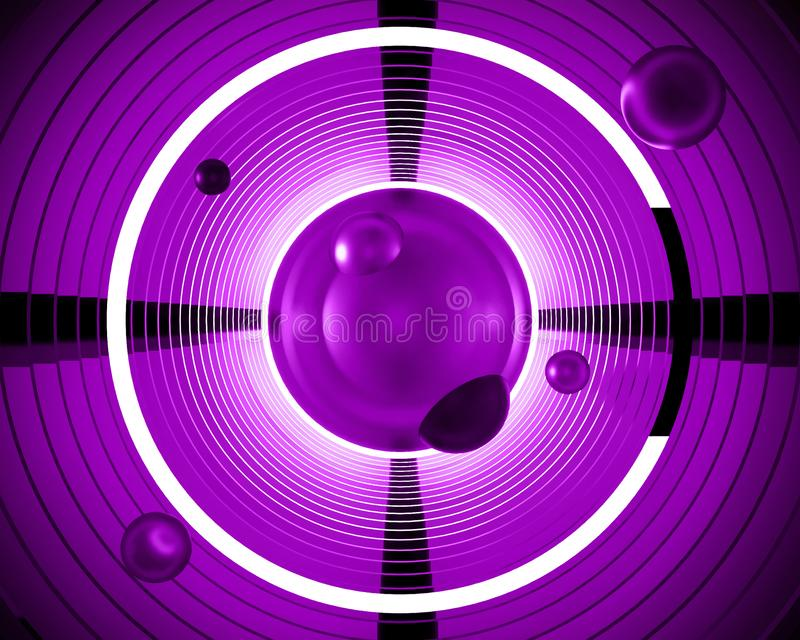 Abstrakte futuristische Illustration des Hintergrundes 3d Geometrisches Neon vektor abbildung
