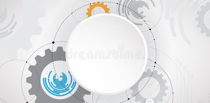 Abstrakte futuristische Stromkreiscomputerinternet-Technologierückseite stock abbildung