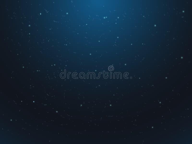 Abstrakte Galaxie und Sterne mit blauer Farbe lizenzfreie abbildung
