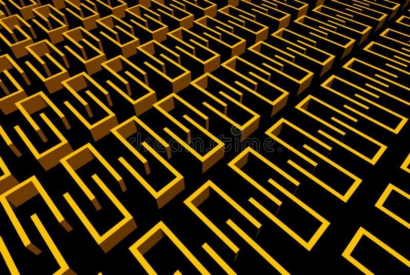 Abstrakte gelbe Wände stock abbildung