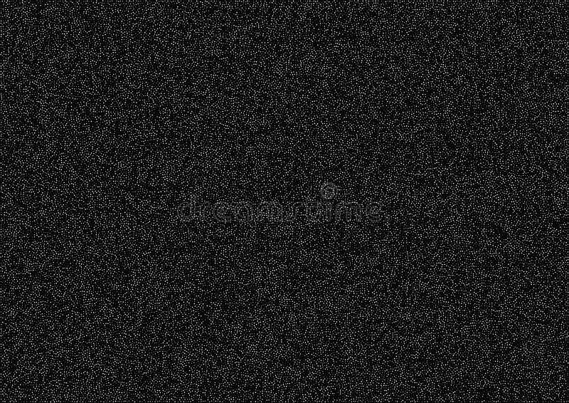 Abstrakte gelegentliche weiße Halbtonpunkte vector horizontalen Musterbeschaffenheitshintergrund A4 Papierformat, Vektorillustrat stock abbildung
