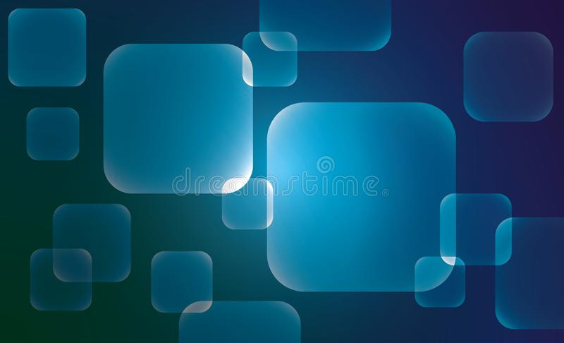 Abstrakte Geometriequadrat-Vektorhintergründe lizenzfreie abbildung