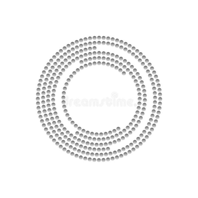 Abstrakte geometrisch gepunktete Kreise Stock Vector Abbildung auf weißem Hintergrund EPS10 vektor abbildung
