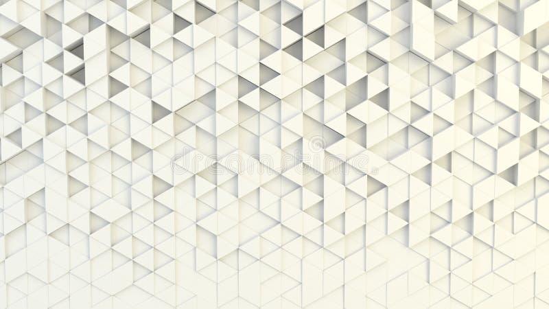 Abstrakte geometrische Beschaffenheit von nach dem Zufall verdrängten Dreiecken vektor abbildung