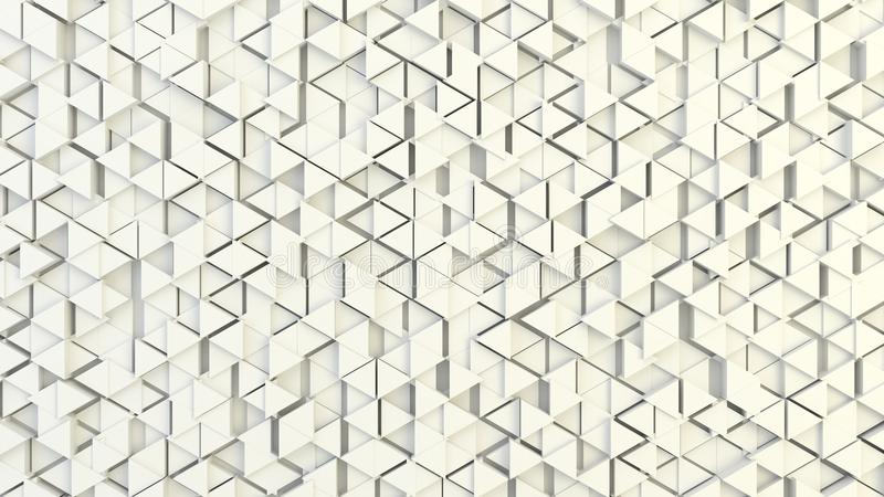 Abstrakte geometrische Beschaffenheit von nach dem Zufall verdrängten Dreiecken lizenzfreie stockfotografie