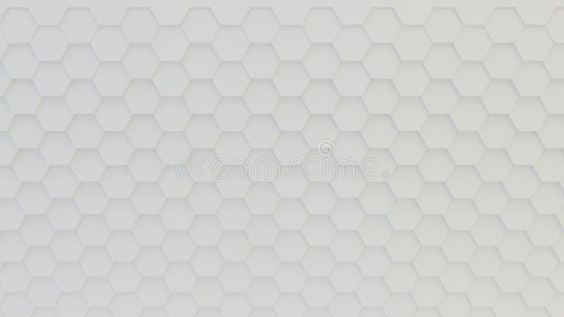 Abstrakte geometrische Beschaffenheit von nach dem Zufall verdrängten Hexagonen lizenzfreie stockbilder