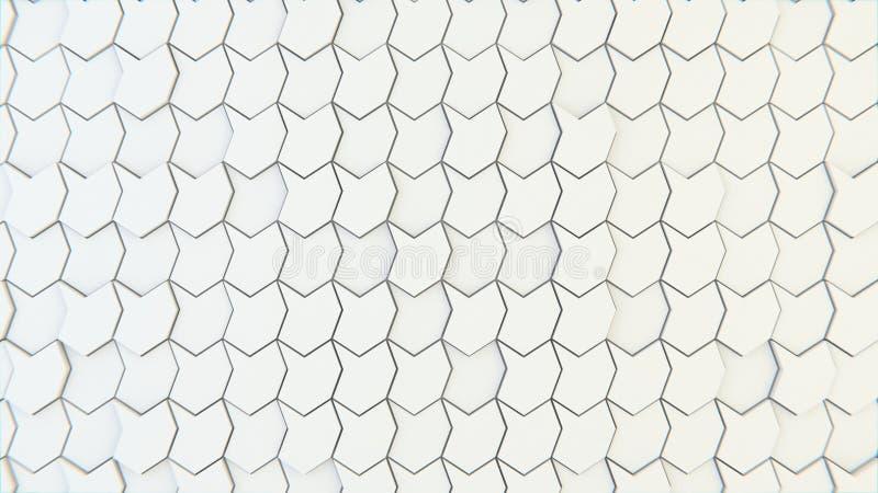 Abstrakte geometrische Beschaffenheit von nach dem Zufall verdrängten Polygonen lizenzfreie stockfotografie